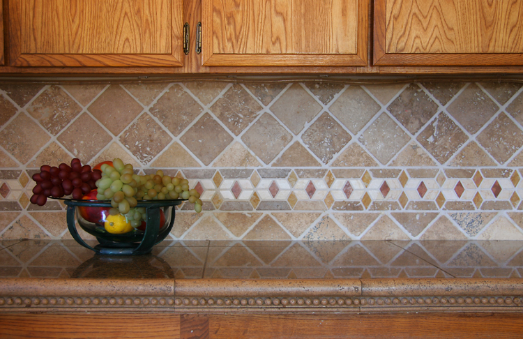 Tile medallions for backsplash
